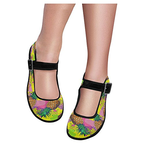 Shoes Flats Multi InterestPrint Casual 5 Walking Womens Mary Comfort Jane qwg0IB