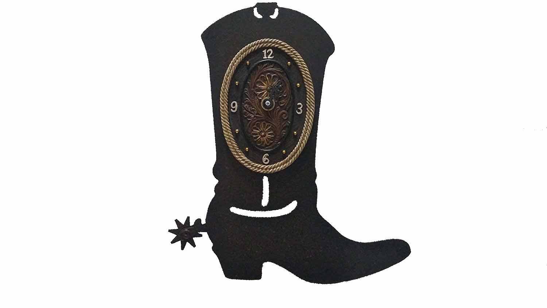 Metal Boot Wall Clock, Western