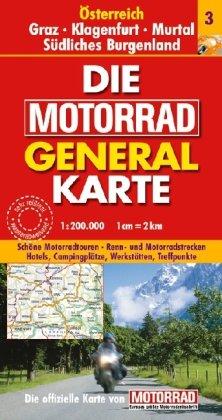 Graz/Klagenfurt/Murtal/Südliches Burgenland: 1:200000