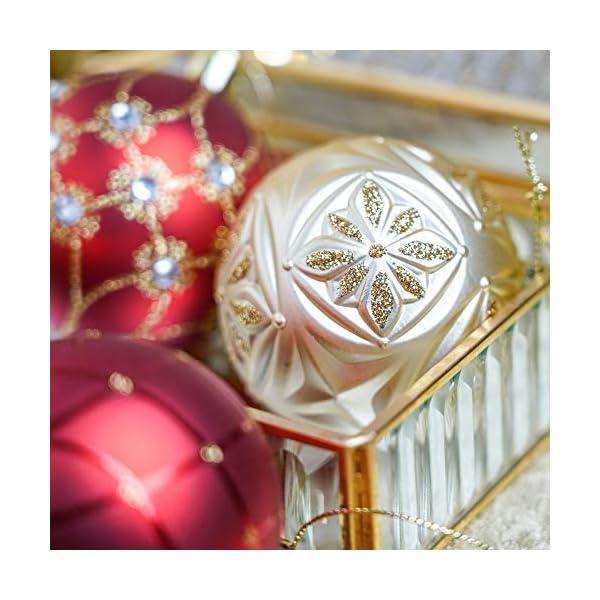 Valery Madelyn Palle di Natale 24 Pezzi 7cm Palline di Natale, Ornamenti di Palla di Natale Infrangibili di Lusso Rosso e Oro per la Decorazione Dell'Albero di Natale 6 spesavip