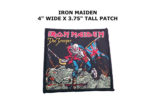Iron Maiden The Trooper Costume (Iron Maiden The Trooper Rock Music Embroidered Iron/Sew-on Comics Cartoon Theme Logo Patch)