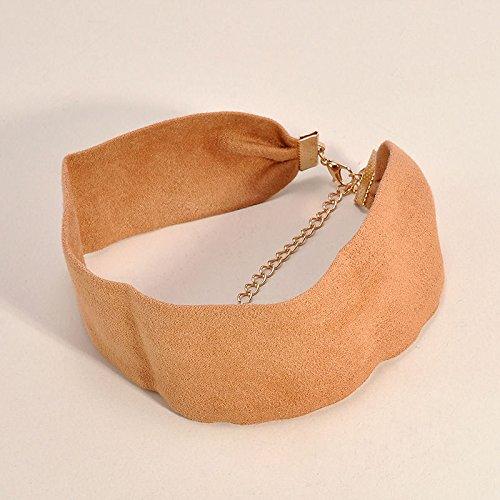 Vintage Punk Plain Black Wide Velvet Choker Boho Chain Necklace Handmade Retro LOVE STORY ืnogluck - 36mm Pendant