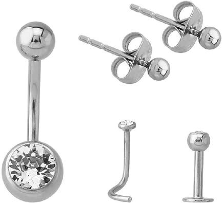 Cuerpo Joyas Piercings Starter Pack: BodyJewelleryShop: Amazon.es: Joyería