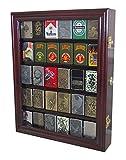 zippo case display - Lockable Cigarette/Sport Lighter Display Case Wall Cabinet Shadow Box LC30 (Mahogany)