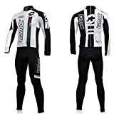Animee123 Cycling Jerseys Winter Long Sleeves Thermal Fleece Shirts Winter Men ciclismo Maillot (Suit, XXL)