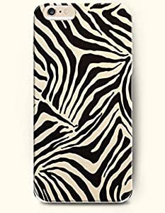 Apple iPhone 6 Case ( 4.7 inches) with Design of Black And Beige Zebra Print - Animal Print -OOFIT Authentic iPhone Skin