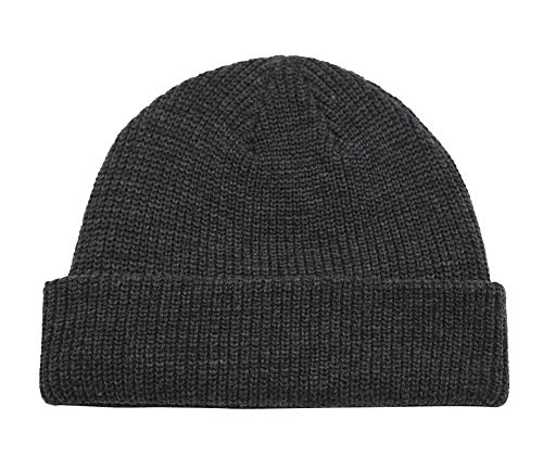 Connectyle Classic Men's Warm Winter Hats Acrylic Knit Cuff Beanie Cap Daily Beanie Hat (Charcoal) ,Medium ()