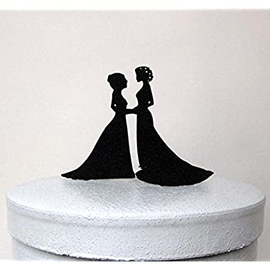 Buythrow Wedding Cake Topper - Same Sex Wedding,2 Bride Wedding Cake Topper, Lesbian Wedding