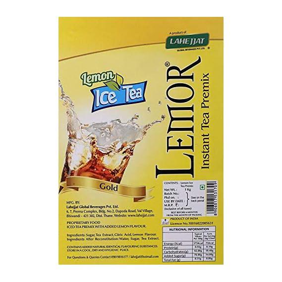 Lemor Lemon Flavour Ice Tea 1kg | Iced Tea|Ice Tea Premix Powder|Summer Drink|Instant Premix Tea for Vending Machine |Ready to Drink Tea
