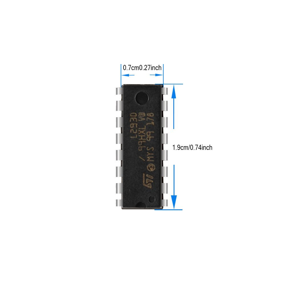 10 Pack L293d Stepper Motor Driver Controller 16 Pin Push Pull Four Dc Relay Circuit Ic Uln2003 Channel With Clamp Diode For Relays Solenoides And Stepping Motors
