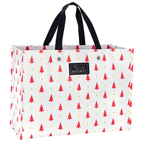 - SCOUT X-Large Package Reusable Gift Bag, Folds Flat, Water Resistant, Red Red Pine