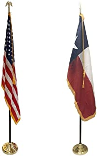 product image for 3x5' Texas State Indoor Flag Set with 3x5' United States Indoor Flag Set for Display!