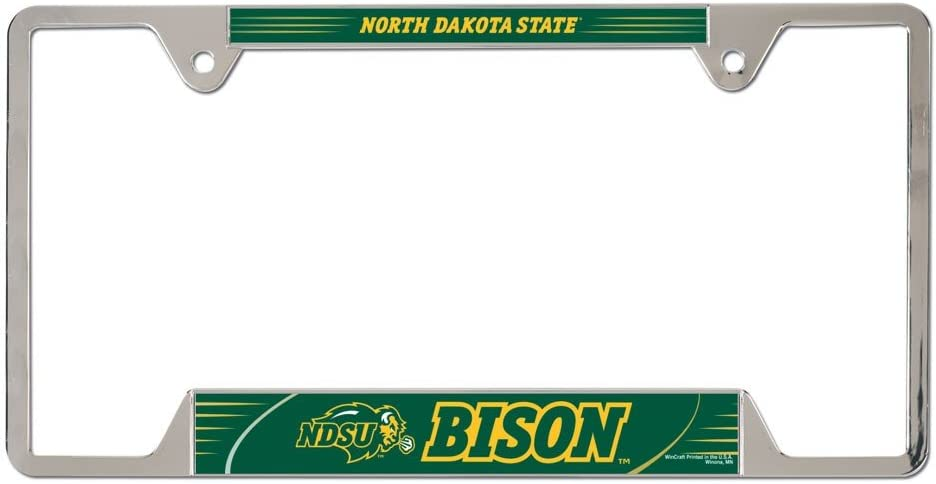 WinCraft NCAA North Dakota State Metal License Plate Frame