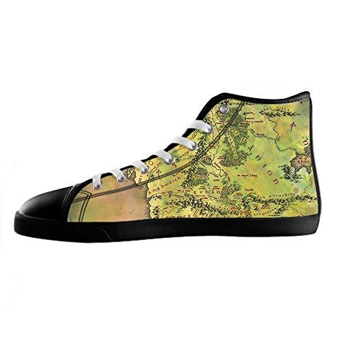 Shoes Lacci Tela Di Mappa Scarpe In Alto Del Canvas I Delle Custom Mondo Ginnastica Men's Da Sopra Le gfqcp
