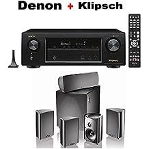 Denon AVR-X1400H 7.2 Channel Full 4K Ultra HD AV Receiver + Definitive Technology ProCinema 600 5.1 Home Theater Speaker System Bundle