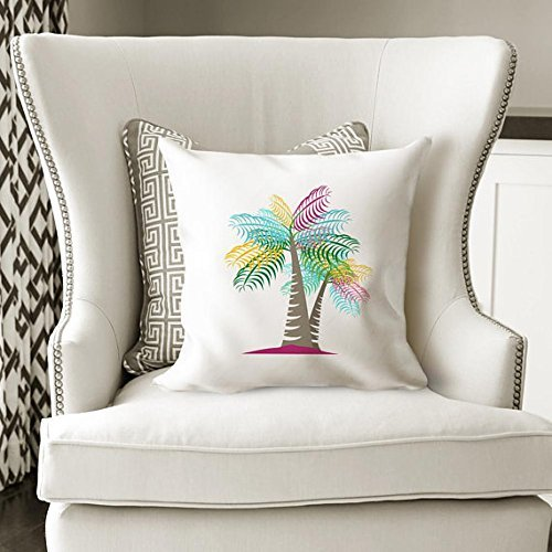 Summer Home Decor Ideas, Palm Tree, Pillowcase, Beach Decor Ideas, Beach Decor - Mall Beach Vero