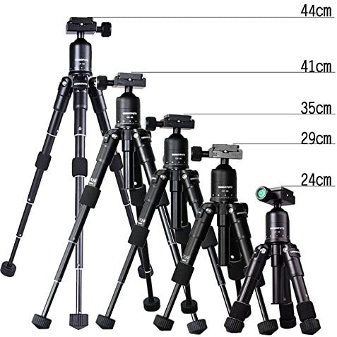 elegantstunning M225 Mini Tripod with Ball Head,Portable Folding Aluminum alloy Tripod for Digital cameras Camcorder and Mini Projector Black