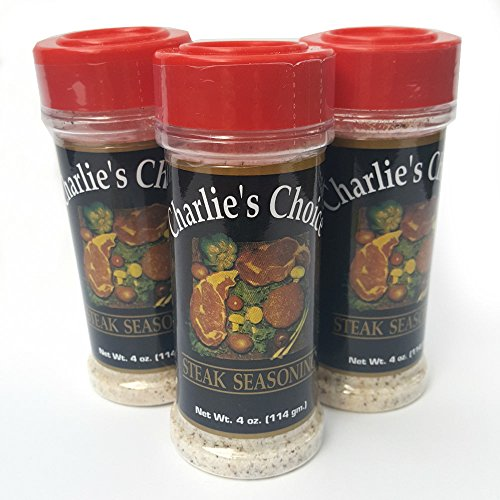 Charlie's Choice Special Steak Seasoning 3 Pk Best for All Meats (Including grill Sirloin, Ribeye, etc) Beef Pork Chicken Fish 12 OZ