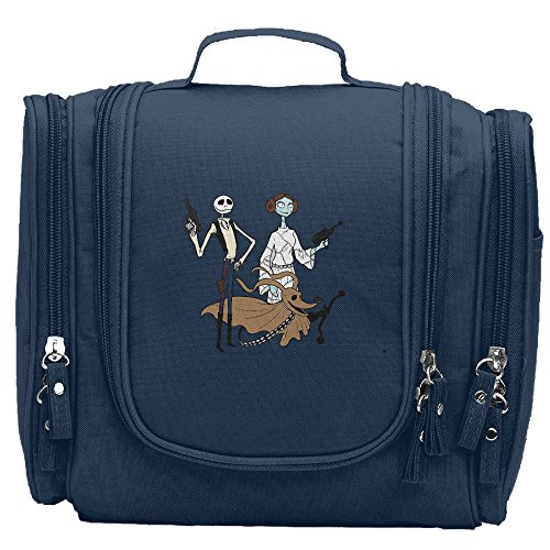 Women's Horror Nightmare Before Christmas Makeup Organizer / Cosmetic Bag / Toiletry Bag / Hanging Travel Toiletry Organizer Navy (Sims 3 Halloween Makeup)