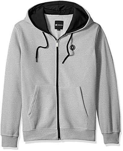 Akademiks Men's Long Sleeve Zip-up Hoodie Sweatshirt, Tower Heather Grey, X-Large by Akademiks