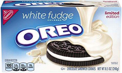 - Oreo White Fudge Covered Chocolate Sandwich Cookies, 8.5 Ounce