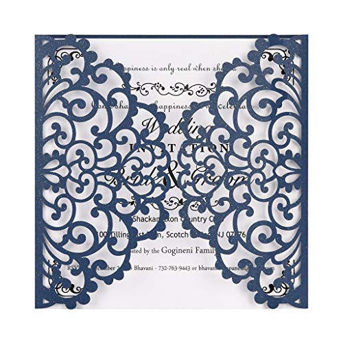 Clearance Sale!DEESEE(TM)European Openwork Wedding Invitation Creative Birthday Card