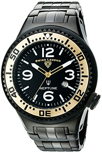 Swiss Legend Men's 21819P-BB-11-GB Neptune Force Analog Display Swiss Quartz Black Watch