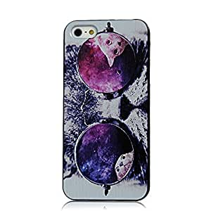 5S Case iPhone 5S Case Sunshine Case iPhone 5 Case iPhone 5 Cell Phone Case iPhone 5S Coloful Painted PC Hard Protective Case for iPhone 5 Cover Shell - Kitty Cat Sunglasses