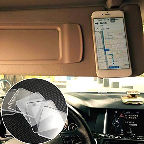 Ultra-Durable /& Washable Design Non-Slip /& Traceless Pack of 5 Multipurpose Transparent Gripping Pads for Car /& Home Use Super Sticky Gel Pads User-Friendly /& Easy to Apply