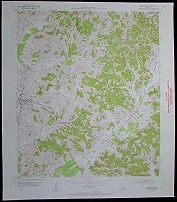Whitesville Kentucky vintage 1955 old USGS Topo chart