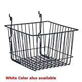 Count of 5 New White Basket fits Slatwall,Grid,Pegboard 12''w x 12''d x 8''h