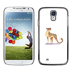 Colorful Printed Hard Protective Back Case Cover Shell Skin for SAMSUNG Galaxy S4 IV / i9500 / i9515 / i9505G / SGH-i337 ( Leopard Wild Cat Big Spots Glasses Funny Art )