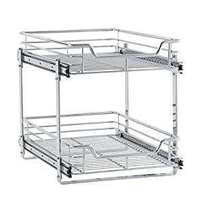 two tier kitchen drawer organizer household essentials c21521 1 glidez 2 tier 8609