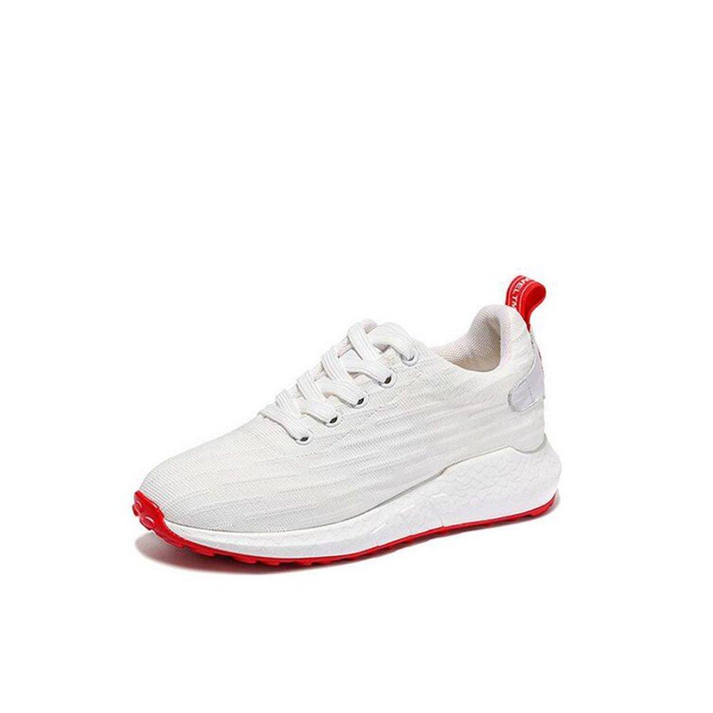 Turnschuh-beiläufige Schuhe der Frauen Tüll-breathable Ineinander greifen PU-Frühlings-Sommer Fall-Komfort-Damen für im Freien haltbare Breathable leichte Sport-Schuhe ( Farbe   Weiß  Größe   38 )