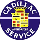 Vintage Style Sign Baked Enamel Steel Cadillac Service 25.5''
