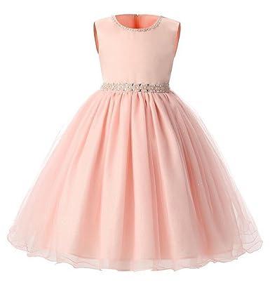 SMITHROAD SMITHROAD Baby Mädchen Kleid mit Strass-Applikationen ...