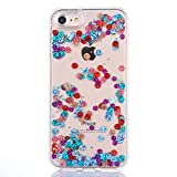 iPhone 7 Case, iPhone 7 Quicksand Star Liquid Case, SUPZY Twinkle Little Stars Moving stars Liquid Shiny Bling Glitter Sparkle Soft TPU Case for Apple iPhone 7 (Colorful)