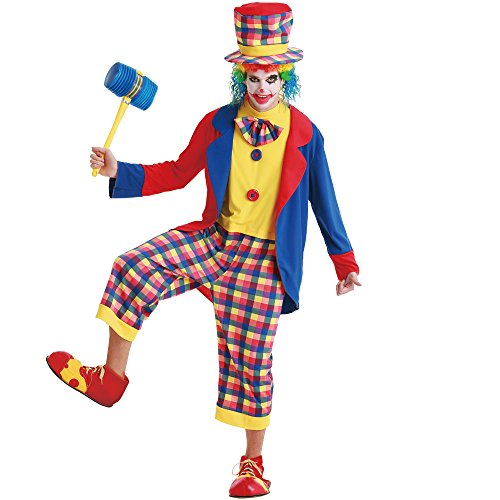 Boo! Inc. Creepy Clown Men's Halloween Costume Killer Evil Circus Carnival Performer
