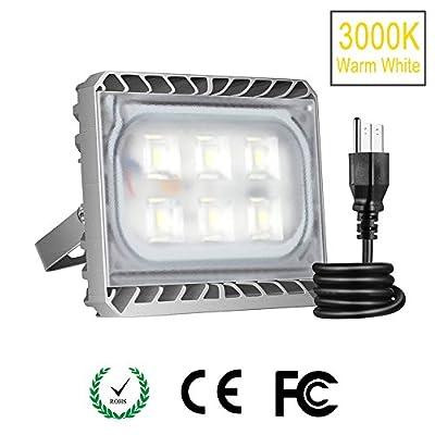 Stasun 30W 50W 70W 100W 150W 200W 300W Led Flood Light, 3000K, Warm White