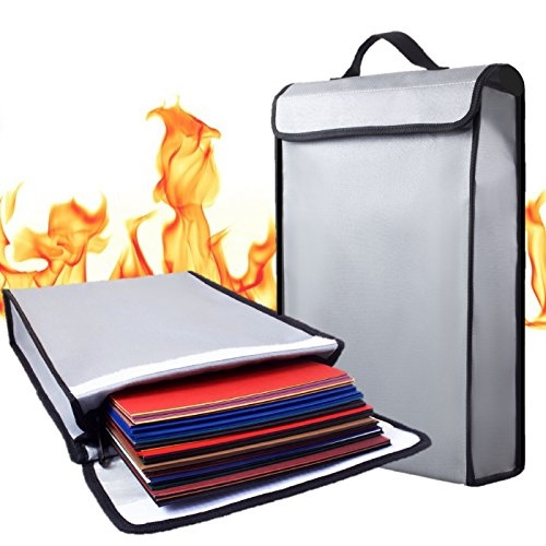 Fire Safe Bags - Fireproof Bag 2000°F Document Holder Waterproof Bags - Peace of Mind Security - Foldable for Fire Safe Box Or Grab n Go Organizer for Money Battery Cash Legal Passport (15