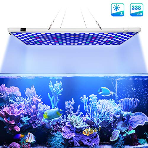 Relassy Aquarium Light, 300W Full Spectrum Led Coral Reef Light for Saltwater Freshwater Fish Tank with 2 Dimmables…