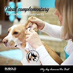 Rubold Premium Natural Dog and Cat Ear Cleaner, 8-Ounce