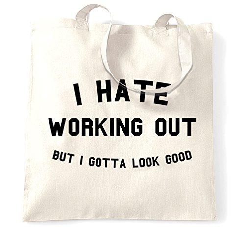 Fitness Ginnastica Odio Io Di Allenamento Sacchetto Tote Bene Lavorare Guardare Ma Devo White Fuori CHxdv6wqHU