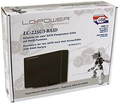 6,3 cm B LC-Power Geh SATAUSB3.0 LC-225U3-RAID 2,5