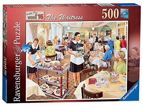 - Ravensburger Happy Days at Work No.16 - The Waitress 500pc Jigsaw Puzzle