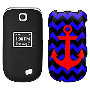 LG Revere 3 Anchor Red Chevron Blue and Black Case