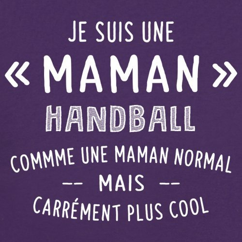 une maman normal handball - Femme T-Shirt - Violet - S