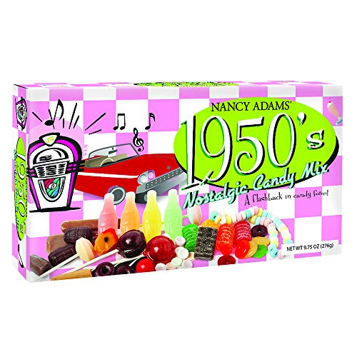 1950's Retro Candy Gift Box-Decade Box Gift Basket - Classic 50's Candy - 9.75OZ (276g) (Retro Candy Box)