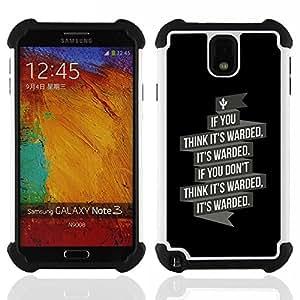"Hypernova Híbrido Heavy Duty armadura cubierta silicona prueba golpes Funda caso resistente Para Samsung Galaxy Note 3 III N9000 N9002 N9005 [Se warded""]"