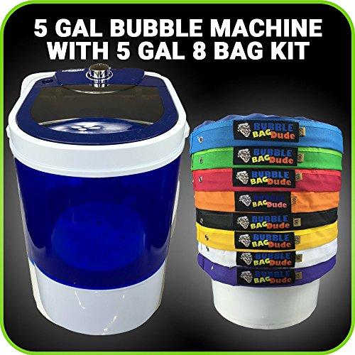 Bubble Machine 5 Gallon 8 Bag Ice Bubble Bags Mixing Kit - 5 Gallon Portable Mini Bubble Washing Machine- Herbal Extractor